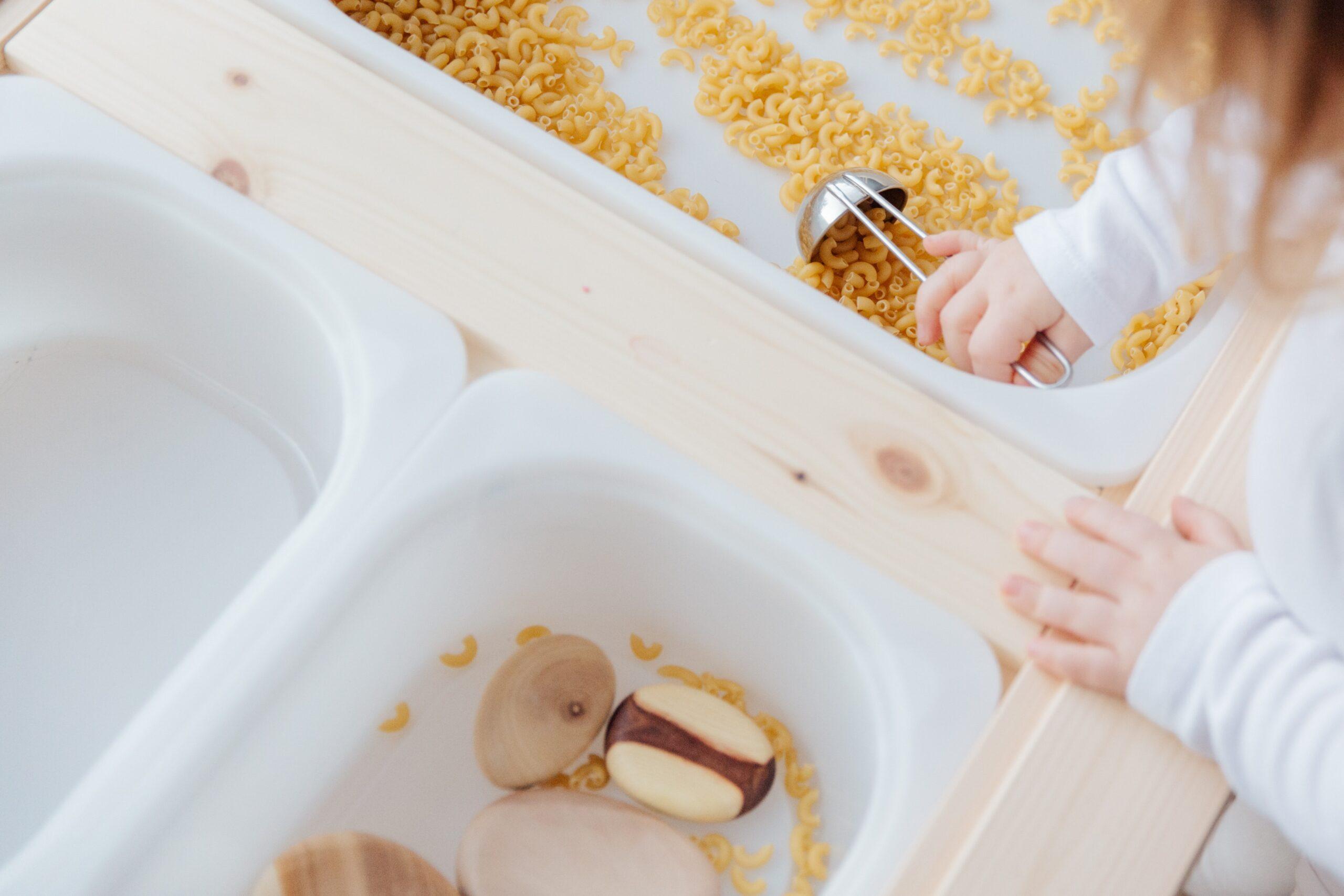 sensory bins with rice